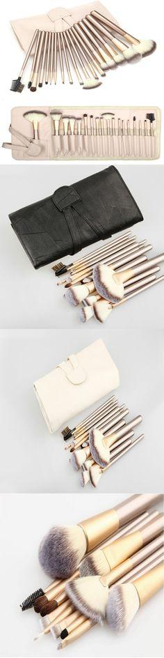 18 Pcs make up brushes Professional tool kit makeup Cosmetic set brushes Foundation Brush for Makeup set kit pinceis maquiagem