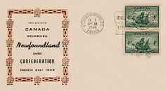 When the depression hit in the 1930's Newfoundland gave up its independence to Britain for economic guarantees. Later down the road Newfoundland had to face a choice to be on their own, join confederation with Canada or stay with Britain. We all know the choice that was made as we all know Newfoundland as one of Canada's provinces. Newfoundland, Vintage World Maps, Canada, Britain, Depression, Join, Face, Newfoundland Dogs, Faces