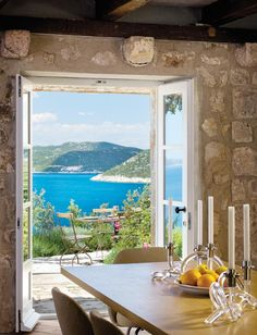 A beautiful summer home on a Croatian island owned by interior designer Lucien Rees Roberts and architect Steven Harris, and with a garden deisgned by landscape architect David Kelly.