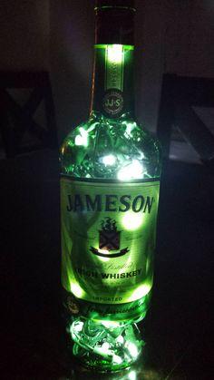 Handmade Jameson Whiskey LED Lamp/Light  FREE by TheLiquorLamp, $30.00