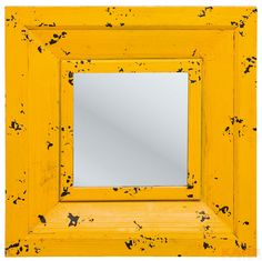 Mirror Camera Yellow 55x55cm
