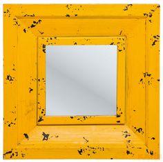 Mirror Camera Yellow 55x55cm