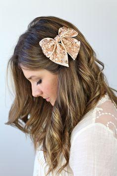 Sparkly Hair Bow