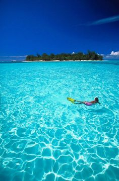 Dip into this clear blue water in Saipan, Northern Mariana Islands