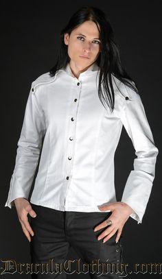 White Long Lapel Shirt - Shirts - Gentlemens Clothing