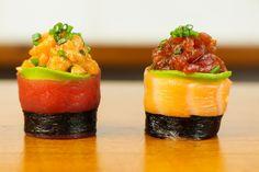 Spicy Tuna Salmon Sushi Roll - Beautiful Food Recipe (+playlist)