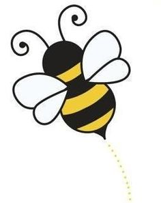 cute bee clipart clipart panda free clipart images art rh pinterest com bee clip art black and white bee clip art heart