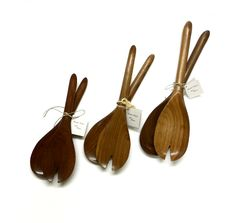 Salad Servers by Rudolph Schafron, available online and in-store. Craft Ontario Shop - 118 Cumberland St. Toronto, ON