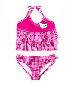 Look what I found on #zulily! Pink Picnic Tankini - Toddler & Girls #zulilyfinds