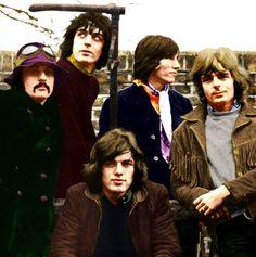 All 5 members of Pink Floyd                              …