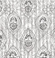 Merging the wallpaper pattern drawings on photoshop.