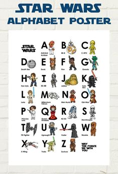 A long time ago in a galaxy far far away. There were some awesome illustrated Star Wars Prints! Each Character has been illustrated by myself, digitally redrawn and colored with lots of love and care. Star Citizen, Star Wars Nursery, Nursery Art, Nursery Ideas, Nursery Decor, Anniversaire Star Wars, Microsoft, Star Wars Prints, Small Letters