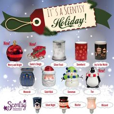 Holiday 2014 collection ~ LIMITED quantities available !!! ORDER ONLINE beginning Oct 1~ DIRECT SHIPS https://spollreisz.scentsy.us