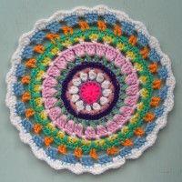 Crochet Mandala Wheel made by Rosana, Slovenia, for yarndale.co.uk