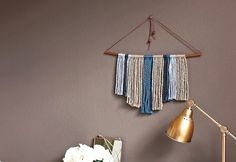Cheap DIY Projects for the Home - Yarn DIY Hanging Wall Decor - DIY Projects & Crafts by DIY JOY at http://diyjoy.com/quick-diy-projects-fast-crafts-ideas