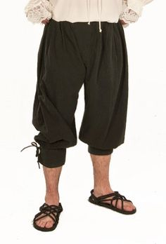 Cotton Trousers with side Lacing- LARP, Cosplay, Costume