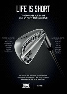 This advertisement for golf equipment appeared in an issue of SilverKris Magazine and it displays the principle of Dominance. The golf club is the only biggest main focus of this ad, from which I understand that its purpose is to push the golf club's quality by emphasising its details and craftsmanship.