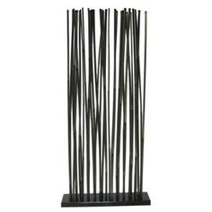 """Room divider with natural bamboo rods and a hardwood base.Product: Room dividerConstruction Material: Natural bamboo and hardwoodColor: NaturalDimensions: 71"""" H x 34"""" W x 8"""" D"""
