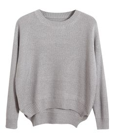 Short Front Long Back Loose Fit Sweater