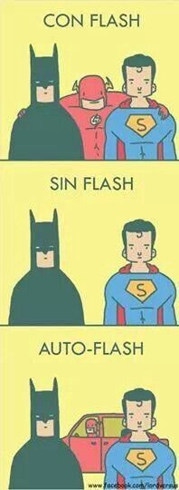 Con Flash, sin Flash, auto Flash