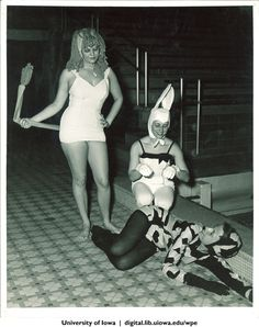 Seals Club members in costume, University of Iowa, early 1960s | University of Iowa Physical Education for Women | Iowa Digital Library