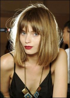 Long bob hairstyles with fringe 2010