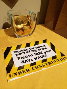 Construction party ideas