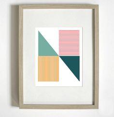 Geometric N Typographic Print by nicoleap on Etsy, $29.00