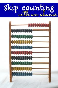 Skip Counting with an Abacus:  A tangible way to teach counting by 10s, 5s, and 2s!