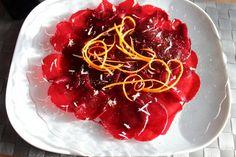 Rote-Beete-Carpaccio mit Meerrettich