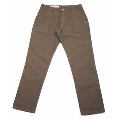 Bleu de Paname Bleu de Paname - Khaki Green Pantalon Fatigue Pants: These military inspired khaki Fatigue Pants from Bleu de Paname  are  made of 100% cotton twill and have a relaxed fit. Featuring a button fly, two large deep angled front pockets, two large button back pockets, and an adjustable button waist. Made in France.