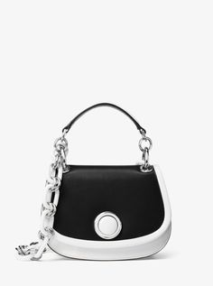 MICHAEL KORS Goldie Small French Calf Leather Shoulder Bag. #michaelkors #bags #shoulder bags #hand bags #suede #lining #