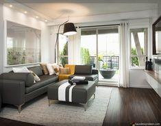 Wohnzimmer Mit Dunklen Holzböden 018