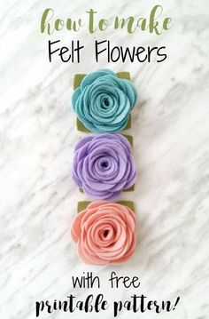 to Make Felt Flowers - with free printable pattern An easy felt flower tutorial that can be used for making headbands, magnets, wreaths and more!An easy felt flower tutorial that can be used for making headbands, magnets, wreaths and more! Handmade Flowers, Diy Flowers, Paper Flowers, Diy Wool Felt Flowers, Felt Flower Wreaths, Felt Flower Diy, Paper Butterflies, Make Fabric Flowers, Crochet Flowers