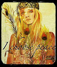 ☮ American Hippie Art ~ Peace