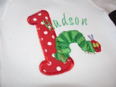 The Very Hungry Caterpillar Personalized 1st by DaisykDesigns, $21.00