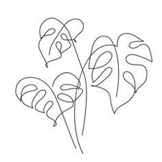 Leaf Drawing, Plant Drawing, Drawing Tips, Line Art Vector, Outline Art, Japon Illustration, Abstract Line Art, Leaf Art, Art Drawings