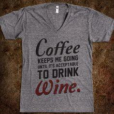 Ha! Coffee Keeps Me Going