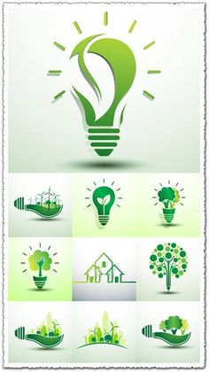 Green Energy Projects For Kids Code: 2664966015 Web Design, Graphic Design, Green Concept, Vector Verde, Electricity Logo, Environment Logo, Energy Pictures, Logos, Save Mother Earth