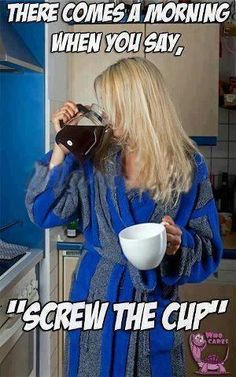 Good morning coffee lover friends♥ Like me, her cup is almost as big as the pot, anyway! Coffee Talk, Coffee Is Life, I Love Coffee, Coffee Break, Morning Coffee, Good Morning, Coffee Coffee, Coffee Lovers, Monday Morning