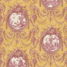 CLEARANCE - Waverly Vignette Spice Toile Decorative Throw Pillow -- Free Shipping on Etsy, $13.99