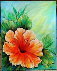 Painting lessons, painting tips, hawaiin flowers, acrylic flowers, paint . Acrylic Flowers, Acrylic Art, Watercolor Flowers, Watercolor Paintings, Painting & Drawing, Painting Lessons, Painting Tips, Painting Inspiration, Flower Art