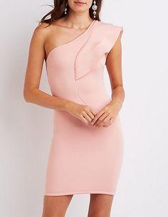 One-Shoulder Ruffle Dress #charlottelook
