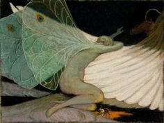 Attributed to Elihu Vedder  (1836–1923)  Psyche and Cupid, late 19th century
