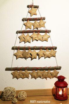 Mary mani creative-Calendario dell'Avvento albero con stelle ripiene di cioccolato
