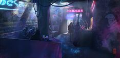 Cyberpunk-bar by Damnagy.deviantart.com on @DeviantArt