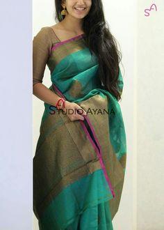 Love dis colour suits all – Artofit Kota Silk Saree, Indian Silk Sarees, Sari Blouse Designs, Designer Blouse Patterns, Indian Attire, Indian Ethnic Wear, Indian Dresses, Indian Outfits, Wedding Saree Collection