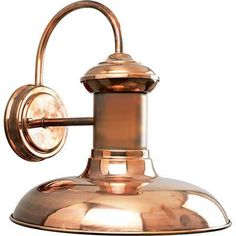 - Overview - Details - Why We Love It - This outdoor light is one of our favorite for interior spaces too! Try this sconce above your kitchen sink or in a bathroom. It's traditional and charming. Finish: Antique Nickel, Copper or Gilded Iron - Wattage Per Light: 100w max - Bulb Type: Medium Base - Notes: Listed for damp locations - We love the versatility! Made for outdoors, but a top pick for a charming addition to bathroom and kitchens...even down hallways.