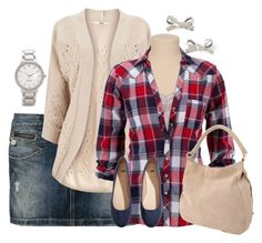 Plaid shirt by dreaminmint on Polyvore featuring polyvore, fashion, style, Oasis, Freeman T. Porter, H&M, Linea Pelle and Kate Spade