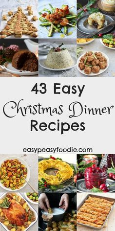 Christmas dinner doesn't have to be stressful! Make your life easier this year by cooking up some of these easy Christmas dinner recipes. Make Christmas morning a much less stressful and more enjoyable affair….but no less delicious! Easy Christmas Dinner, Christmas Buffet, Christmas Ham, Christmas Entertaining, Christmas Cooking, Holiday Dinner, Christmas Dinners, Christmas Side, Christmas Breakfast